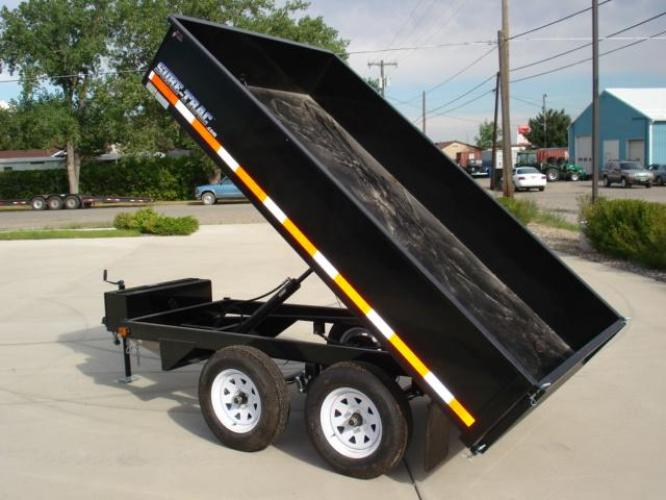2020 Black SureTrac 6 x 10 Deckover Dump Trailer , located at 80 Big Timber Loop Road, Big Timber, MT, 59011, (406) 860-8510, 45.837139, -109.951393 - Photo #1