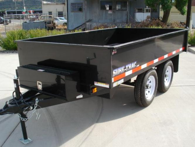 2020 Black SureTrac 6 x 10 Deckover Dump Trailer , located at 80 Big Timber Loop Road, Big Timber, MT, 59011, (406) 860-8510, 45.837139, -109.951393 - Photo #4