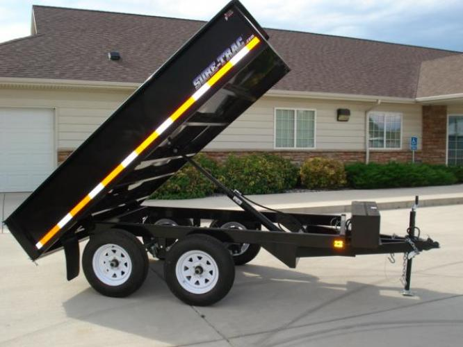 2020 Black SureTrac 6 x 10 Deckover Dump Trailer , located at 80 Big Timber Loop Road, Big Timber, MT, 59011, (406) 860-8510, 45.837139, -109.951393 - Photo #5