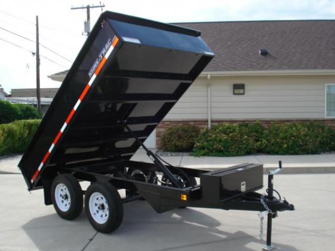 2020 Black SureTrac 6 x 10 Deckover Dump Trailer , located at 80 Big Timber Loop Road, Big Timber, MT, 59011, (406) 860-8510, 45.837139, -109.951393 - Photo #6