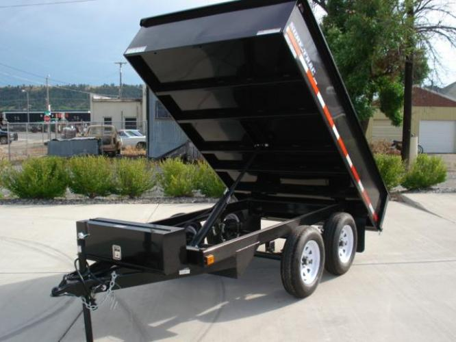 2020 Black SureTrac 6 x 10 Deckover Dump Trailer , located at 80 Big Timber Loop Road, Big Timber, MT, 59011, (406) 860-8510, 45.837139, -109.951393 - Photo #7