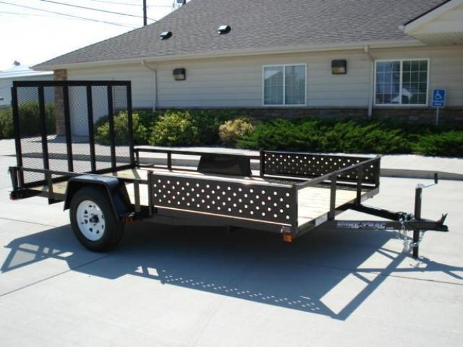 2021 Black SureTrac 7 X 12 ATV Trailer , located at 80 Big Timber Loop Road, Big Timber, MT, 59011, (406) 860-8510, 45.837139, -109.951393 - Photo #0