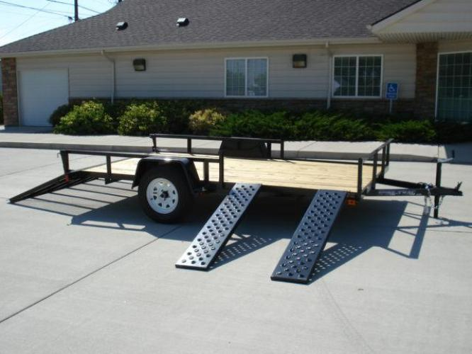 2021 Black SureTrac 7 X 12 ATV Trailer , located at 80 Big Timber Loop Road, Big Timber, MT, 59011, (406) 860-8510, 45.837139, -109.951393 - Photo #2