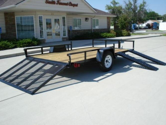 2021 Black SureTrac 7 X 12 ATV Trailer , located at 80 Big Timber Loop Road, Big Timber, MT, 59011, (406) 860-8510, 45.837139, -109.951393 - Photo #3