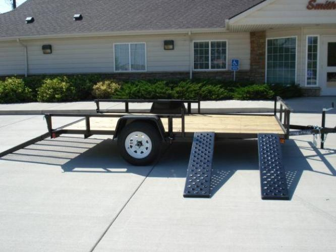 2021 Black SureTrac 7 X 12 ATV Trailer , located at 80 Big Timber Loop Road, Big Timber, MT, 59011, (406) 860-8510, 45.837139, -109.951393 - Photo #4