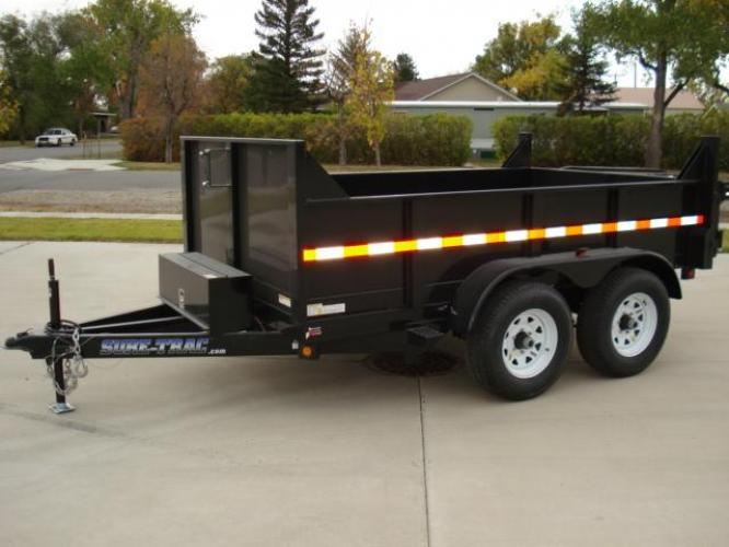2020 Black SureTrac 6 x10 Lo Pro Dump Trailer , located at 80 Big Timber Loop Road, Big Timber, MT, 59011, (406) 860-8510, 45.837139, -109.951393 - Photo #0