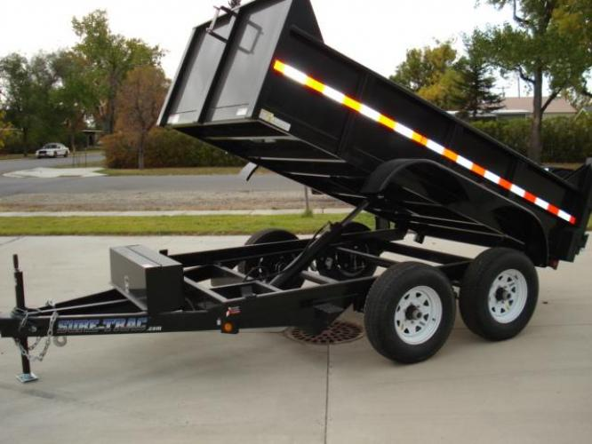 2020 Black SureTrac 6 x10 Lo Pro Dump Trailer , located at 80 Big Timber Loop Road, Big Timber, MT, 59011, (406) 860-8510, 45.837139, -109.951393 - Photo #10