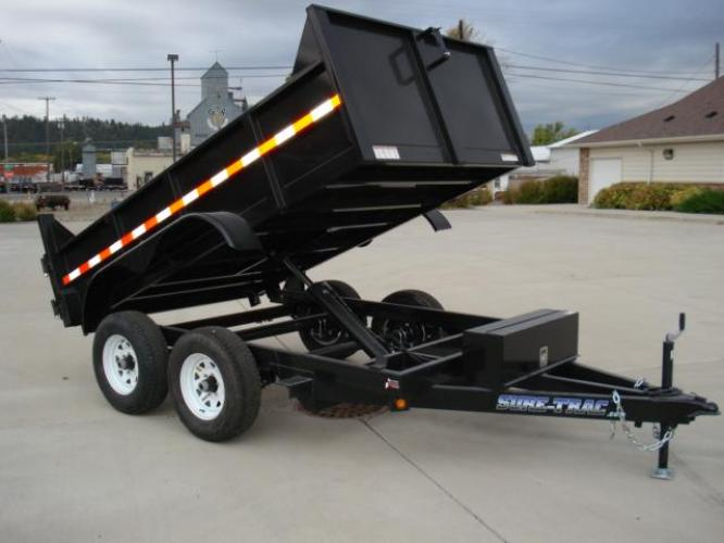 2020 Black SureTrac 6 x10 Lo Pro Dump Trailer , located at 80 Big Timber Loop Road, Big Timber, MT, 59011, (406) 860-8510, 45.837139, -109.951393 - Photo #1