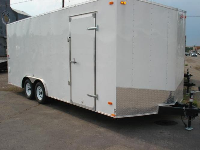 2021 White Pace Outback 81/2 x 20 Car Hauler , located at 80 Big Timber Loop Road, Big Timber, MT, 59011, (406) 860-8510, 45.837139, -109.951393 - Photo #0
