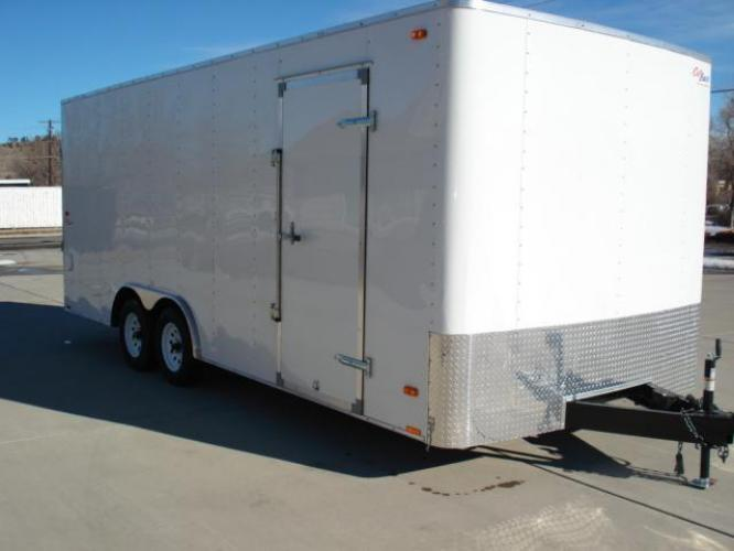 2021 White Pace Outback 81/2 x 20 Car Hauler , located at 80 Big Timber Loop Road, Big Timber, MT, 59011, (406) 860-8510, 45.837139, -109.951393 - Photo #1