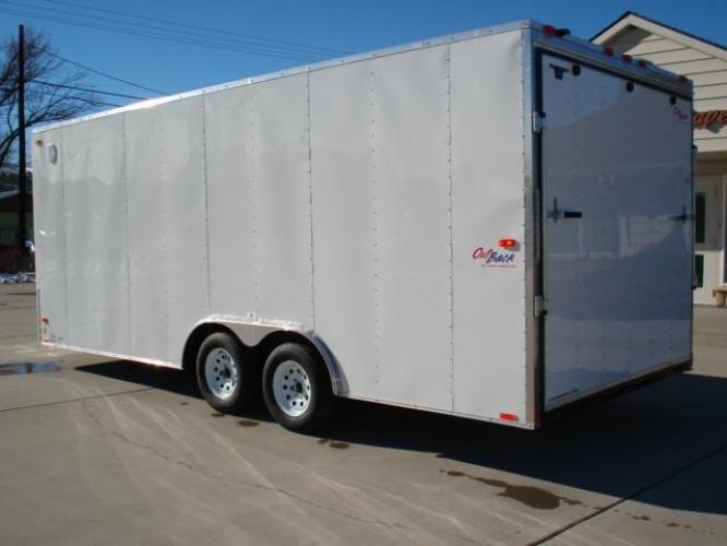 2021 White Pace Outback 81/2 x 20 Car Hauler , located at 80 Big Timber Loop Road, Big Timber, MT, 59011, (406) 860-8510, 45.837139, -109.951393 - Photo #3