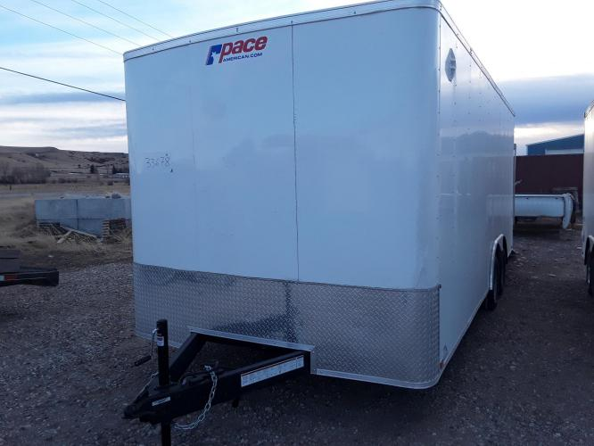 2021 White Pace Outback 81/2 x 20 Car Hauler , located at 80 Big Timber Loop Road, Big Timber, MT, 59011, (406) 860-8510, 45.837139, -109.951393 - Photo #8