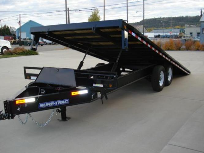2021 Blk SureTrac 81/2 x 24 LoPro Power Tilt , located at 80 Big Timber Loop Road, Big Timber, MT, 59011, (406) 860-8510, 45.837139, -109.951393 - Photo #8