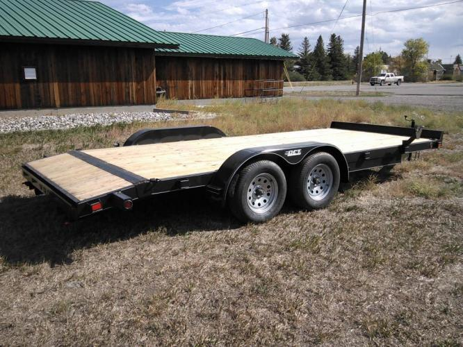 2020 Black DCT 7 x 18 Car Hauler , located at 80 Big Timber Loop Road, Big Timber, MT, 59011, (406) 860-8510, 45.837139, -109.951393 - Photo #0