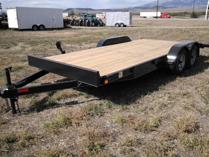 2020 Black DCT 7 x 18 Car Hauler , located at 80 Big Timber Loop Road, Big Timber, MT, 59011, (406) 860-8510, 45.837139, -109.951393 - Photo #2