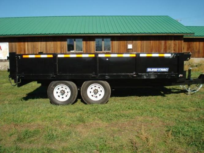 2019 Black SureTrac 8 x 14 Deckover Dump , located at 80 Big Timber Loop Road, Big Timber, MT, 59011, (406) 860-8510, 45.837139, -109.951393 - Photo #0