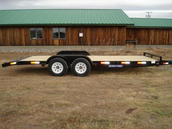 2019 Black SureTrac 7 x 20-10K Car Hauler , located at 80 Big Timber Loop Road, Big Timber, MT, 59011, (406) 860-8510, 45.837139, -109.951393 - Photo #0