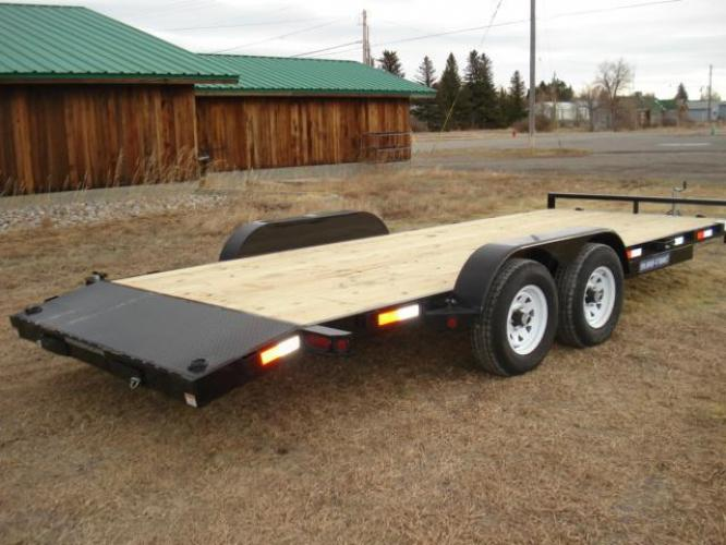 2019 Black SureTrac 7 x 20-10K Car Hauler , located at 80 Big Timber Loop Road, Big Timber, MT, 59011, (406) 860-8510, 45.837139, -109.951393 - Photo #1