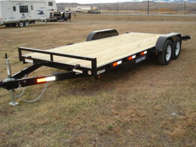 2019 Black SureTrac 7 x 20-10K Car Hauler , located at 80 Big Timber Loop Road, Big Timber, MT, 59011, (406) 860-8510, 45.837139, -109.951393 - Photo #3