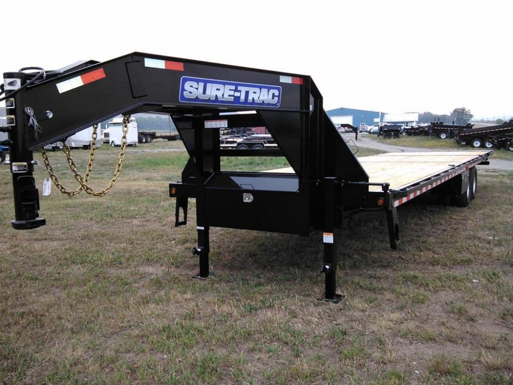 2021 Black SureTrac 81/2 x 35 GN Deckover w/ Power Dovetail , located at 80 Big Timber Loop Road, Big Timber, MT, 59011, (406) 860-8510, 45.837139, -109.951393 - Photo #2