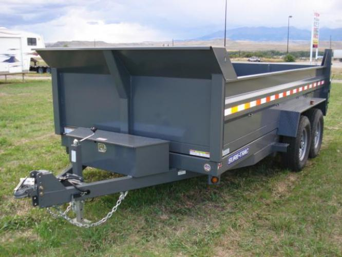 2019 Black SureTrac 7 x 14 LoPro Dump , located at 80 Big Timber Loop Road, Big Timber, MT, 59011, (406) 860-8510, 45.837139, -109.951393 - Photo #8