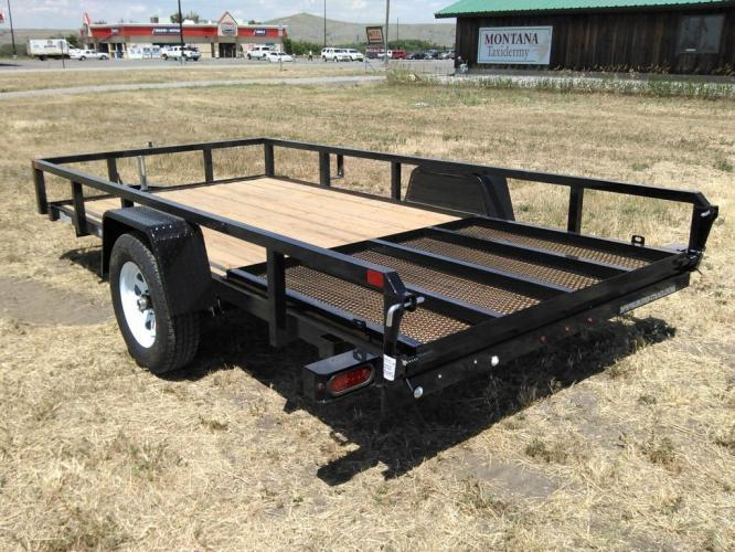 2019 black SureTrac 6 x 12 Tube Top Utility , located at 80 Big Timber Loop Road, Big Timber, MT, 59011, (406) 860-8510, 45.837139, -109.951393 - Photo #1