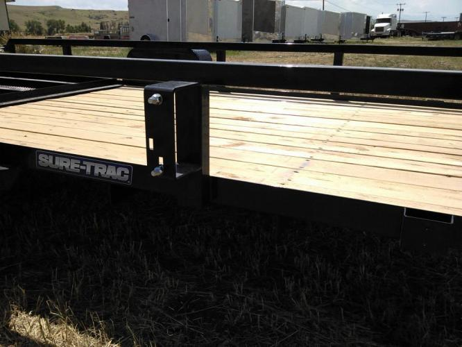 2019 black SureTrac 6 x 12 Tube Top Utility , located at 80 Big Timber Loop Road, Big Timber, MT, 59011, (406) 860-8510, 45.837139, -109.951393 - Photo #2
