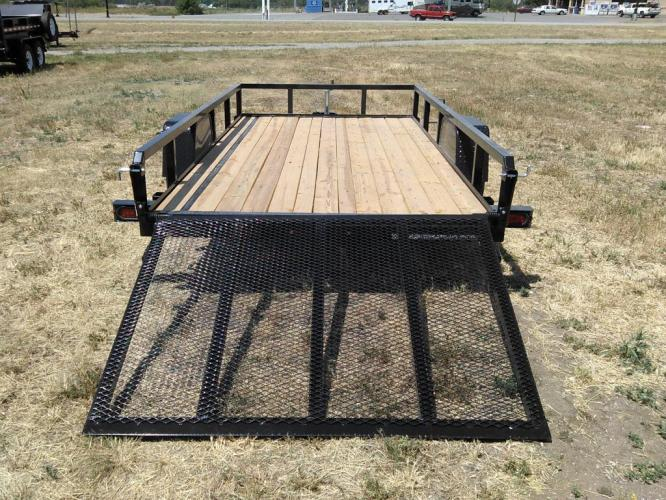 2019 black SureTrac 6 x 12 Tube Top Utility , located at 80 Big Timber Loop Road, Big Timber, MT, 59011, (406) 860-8510, 45.837139, -109.951393 - Photo #5
