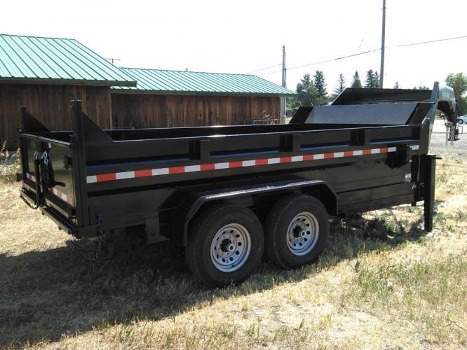 2021 Black SureTrac 7 x 14 GN LoPro Dump , located at 80 Big Timber Loop Road, Big Timber, MT, 59011, (406) 860-8510, 45.837139, -109.951393 - Photo #1
