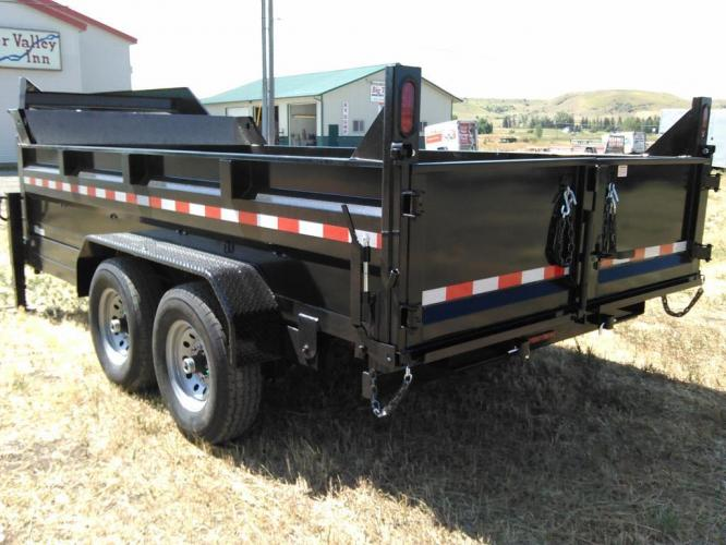 2021 Black SureTrac 7 x 14 GN LoPro Dump , located at 80 Big Timber Loop Road, Big Timber, MT, 59011, (406) 860-8510, 45.837139, -109.951393 - Photo #4