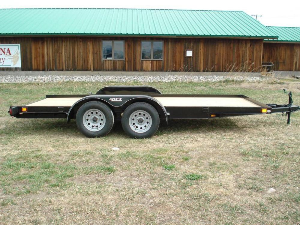 2021 Black DCT 7 x 16 Car Hauler , located at 80 Big Timber Loop Road, Big Timber, MT, 59011, (406) 860-8510, 45.837139, -109.951393 - Photo #0