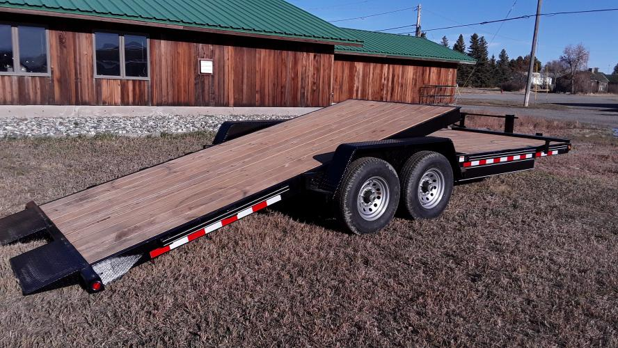 2021 Black Quality 7 x 14 + 8 Equipment Tilt , located at 80 Big Timber Loop Road, Big Timber, MT, 59011, (406) 860-8510, 45.837139, -109.951393 - Photo #5