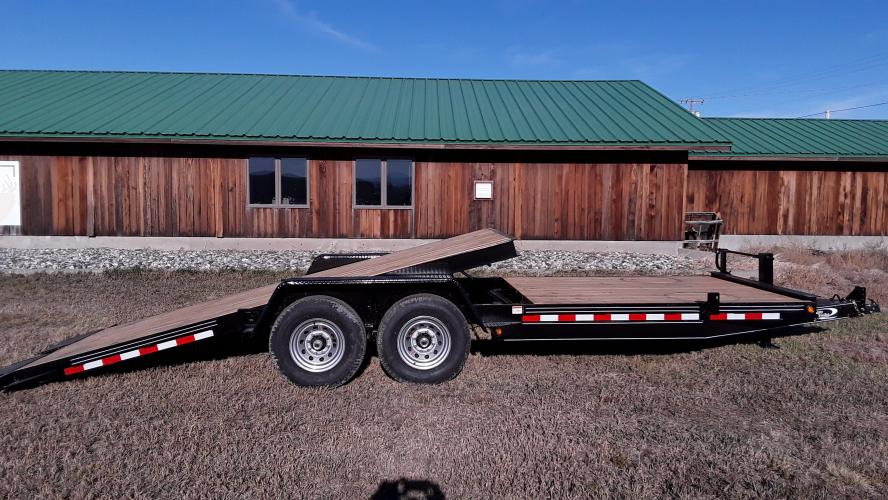 2021 Black Quality 7 x 14 + 8 Equipment Tilt , located at 80 Big Timber Loop Road, Big Timber, MT, 59011, (406) 860-8510, 45.837139, -109.951393 - Photo #6
