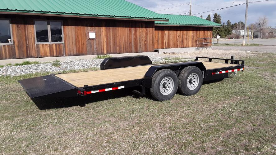 2021 Black SureTrac 7 x 20 Equipment Tilt , located at 80 Big Timber Loop Road, Big Timber, MT, 59011, (406) 860-8510, 45.837139, -109.951393 - Photo #2