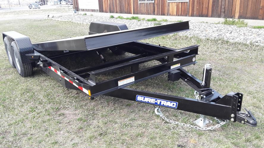 2021 Black SureTrac 7 x 20 Equipment Tilt , located at 80 Big Timber Loop Road, Big Timber, MT, 59011, (406) 860-8510, 45.837139, -109.951393 - Photo #5